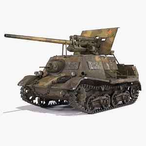 3D ZIS 30 Military Self Propelled Artillery Unit USSR