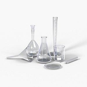 Laboratory Glassware Set 3D model