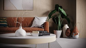 3D studio interior living room