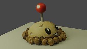 3D Potatobum Plantas vs Zombie