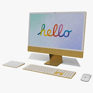 Apple iMac 24 inch Full Set 3D
