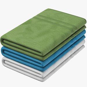 3D Towel Set model