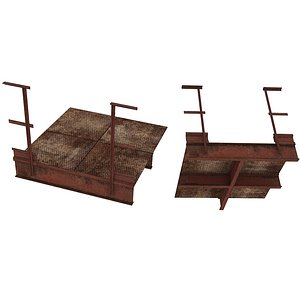 Industrial Platforms  Stairs 01 Set PSide 01 02 model