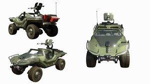 3D military warthog halo