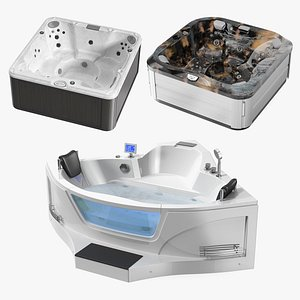 3D model Modern Jacuzzi Collection