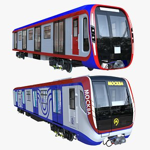 Moscow metro trains 3D model