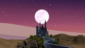 castle cinderella 3D model