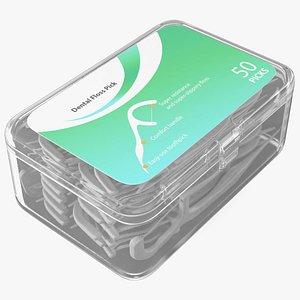 3D Dental Floss Toothpicks Box model