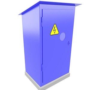 3D Industrial Electrical Box Cabinet 3D Model 37 model