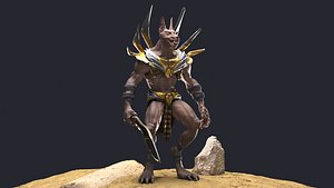 3D Anubis character Low-poly