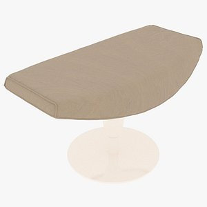 3D Cassina 277-42 Auckland Ottoman Sandy Fabric White Body model