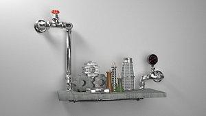 shelf loft style model