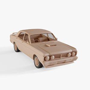 3D 1971 Ford XY Falcon GT model