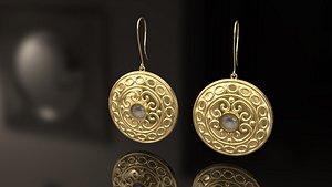 earrings fancy 3D model