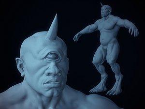 3D model cyclops basemesh
