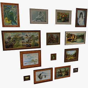3D 14 Paintings Collection