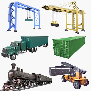 Equipment for Containers Collection 2 3D model