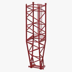 3D model crane l pivot section