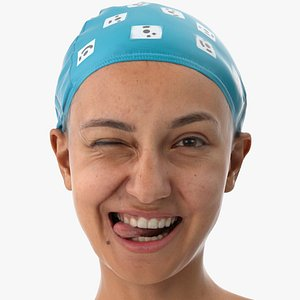 Joy Human Head Funny Clean Scan 3D model
