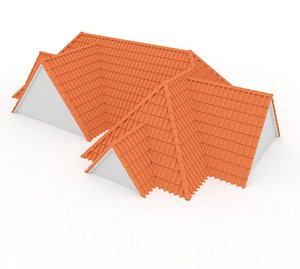 3D Realistic Roof Shingles 8