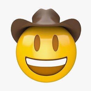 3D Apple Cowboy Hat Face model