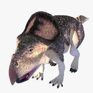 3D protoceratops dinosaur