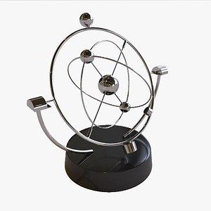 3D newton cradle orbital