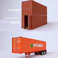 3D Shipping Container Collection model