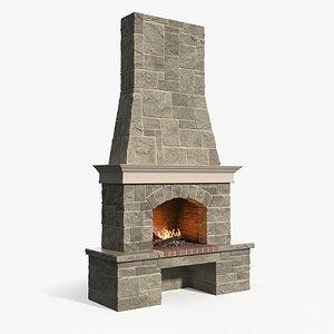 campfire fireplace bonfire model