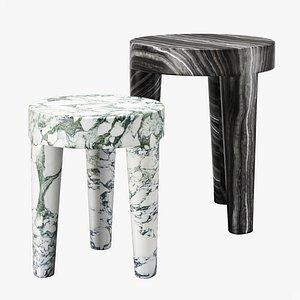 3D Kelly Wearstler tribute stool