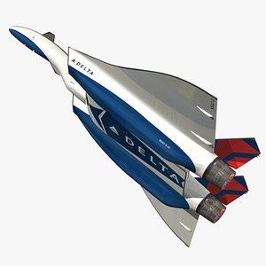 3D DRAKO Delta Air Lines model