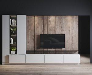 3D Wall Tv Set2
