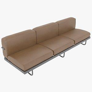 le corbusier leather 3D model