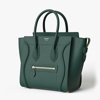 Celine Luggage Handbag Green