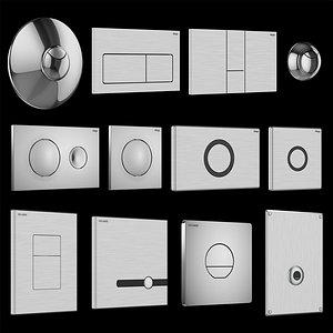 Drain buttons DELABIE and Viega model