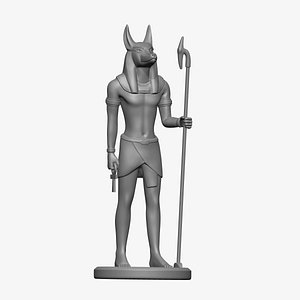 Anubis Ancient Egyptian Statue 3D model