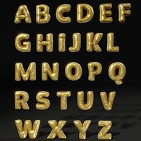 Cute soft alphabet