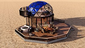 glamping pod geodesic dome PETRA Low-poly 3D model 3D