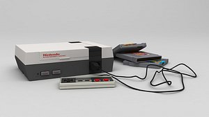 3D Nintendo Entertainment System  NES model