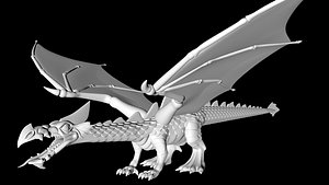 flying dragon 3D model
