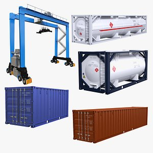 3D gantry crane container