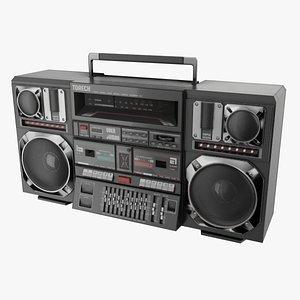 3D retro boombox