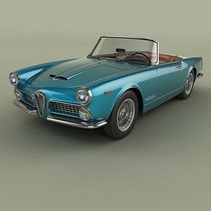 Alfa Romeo 2000 Touring Spider model