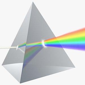 Glass Pyramid Refraction of Light Spectrum 3D model