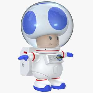 Space Toad Character 8K - Super Mario Assets 3D model
