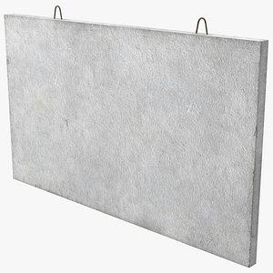3D concrete panel