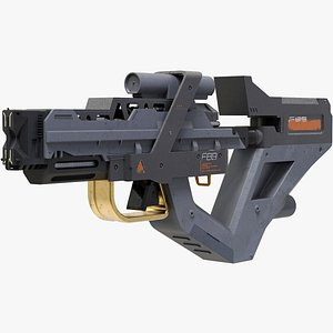 scifi laser gun 3D model