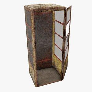 3D soviet telephone booth