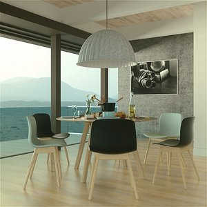 pbr table fondue 3D model