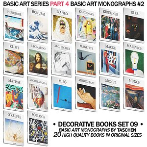 3D model 050 Decorative books set 09 Basic Art Series PART 04
